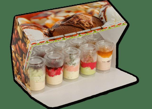 Gâteau glacé de Noël